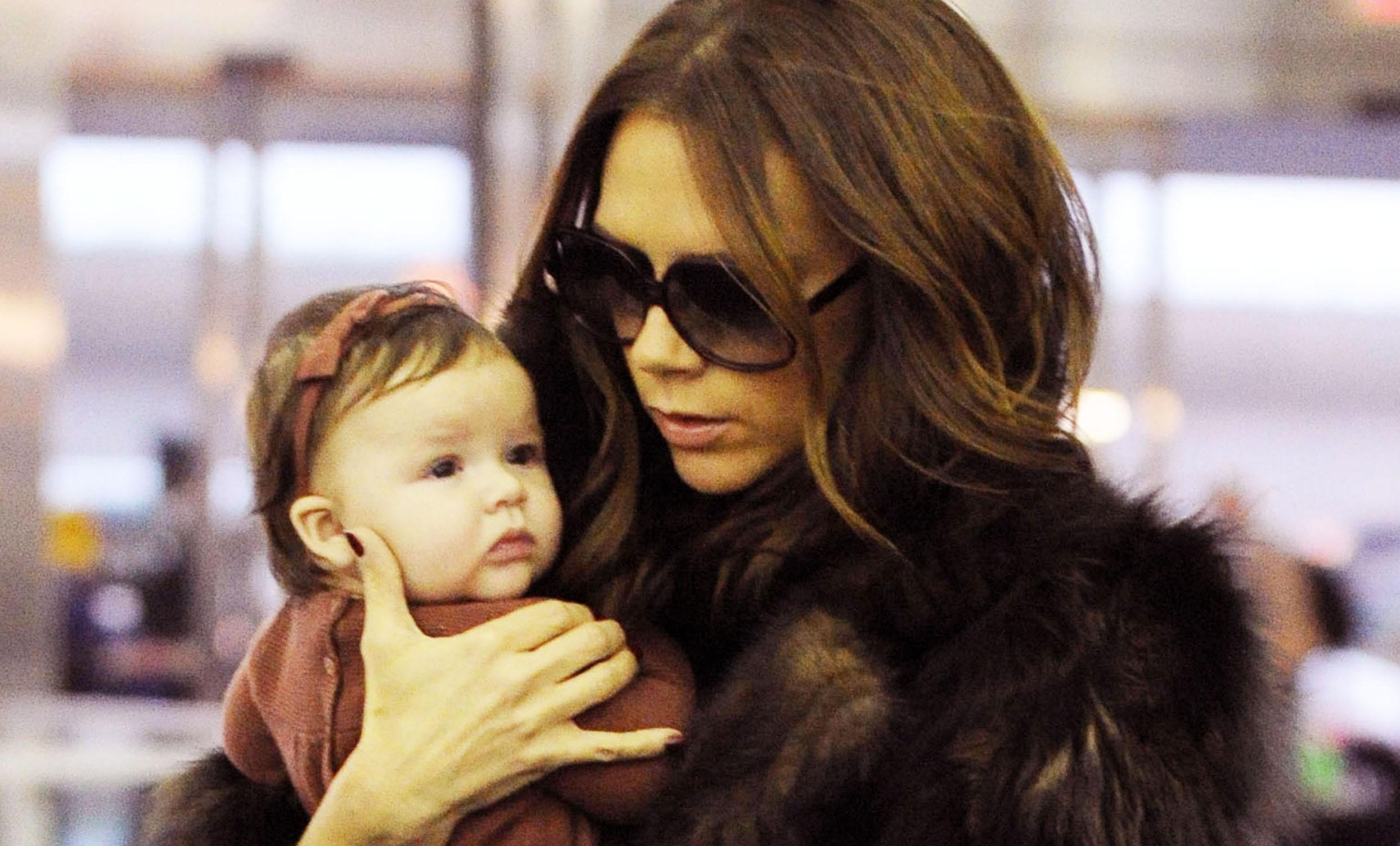 La hija de David Beckham vestida con la competencia